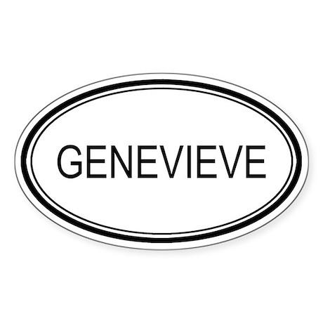 Genevieve Oval Design Oval Sticker