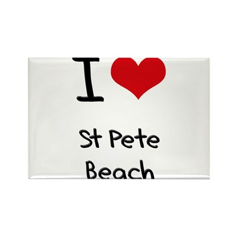 I Love ST PETE BEACH Rectangle Magnet