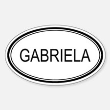 Gabriela Oval Design Oval Decal