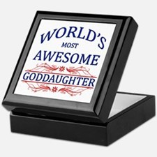 World's Most Awesome Goddaughter Keepsake Box