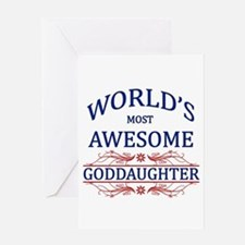 World's Most Awesome Goddaughter Greeting Card