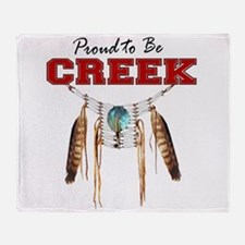 Proud to be Creek Throw Blanket