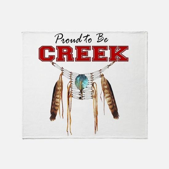 Proud to be Creek Throw Blanket