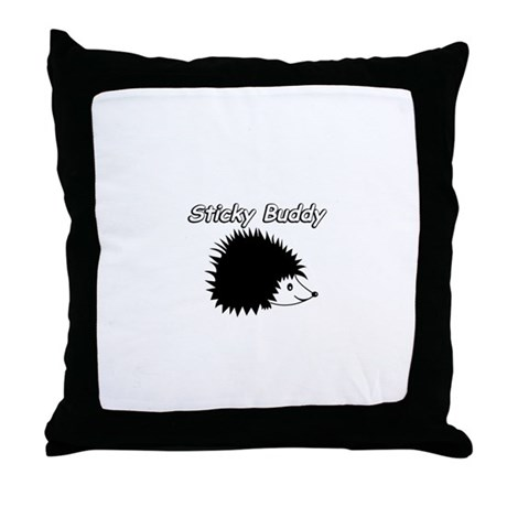 Sticky Buddy Hedgie Throw Pillow