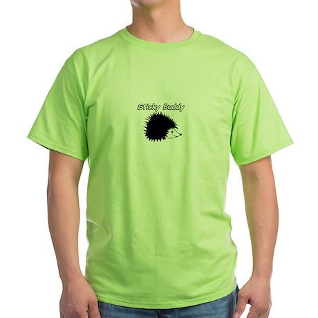 Sticky Buddy Hedgie Green T-Shirt