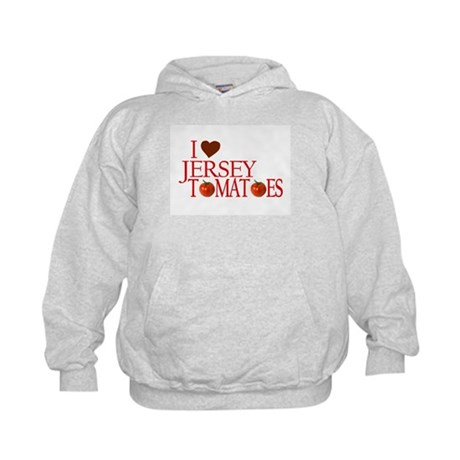 I Love Jersey Tomatoes Kids Hoodie