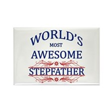 World's Most Awesome Stepfather Rectangle Magnet