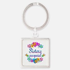 Sisters are Special Square Keychain