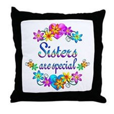 Sisters are Special Throw Pillow