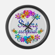 Sisters are Special Large Wall Clock