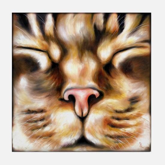 Love Cat Tile Coaster