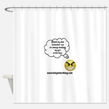 The Jesters Blog Gunwitch thought Shower Curtain