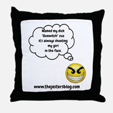 The Jesters Blog Gunwitch thought Throw Pillow