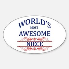 World's Most Awesome Niece Sticker (Oval)