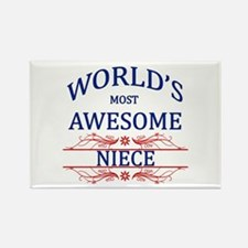 World's Most Awesome Niece Rectangle Magnet