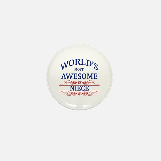 World's Most Awesome Niece Mini Button