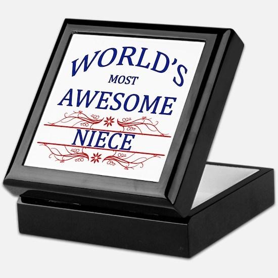 World's Most Awesome Niece Keepsake Box