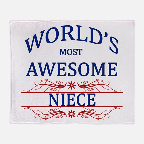 World's Most Awesome Niece Throw Blanket
