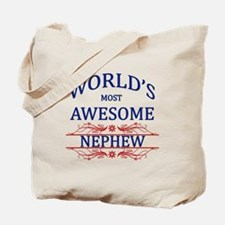 World's Most Awesome Nephew Tote Bag
