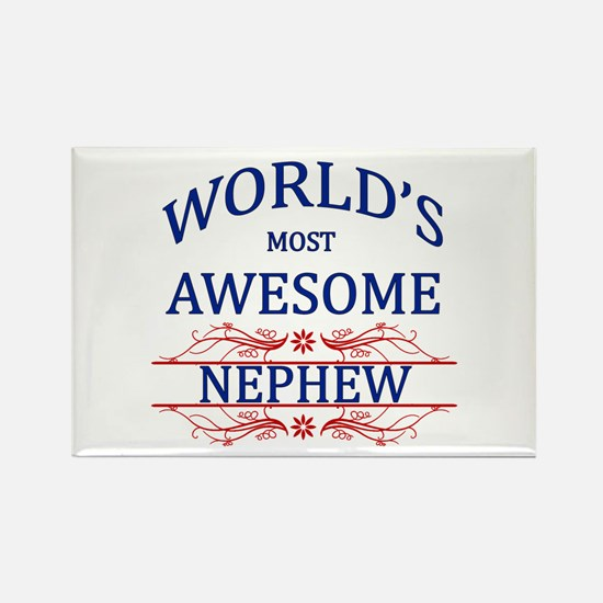 World's Most Awesome Nephew Rectangle Magnet