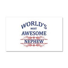 World's Most Awesome Nephew Car Magnet 20 x 12