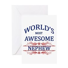 World's Most Awesome Nephew Greeting Card