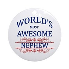 World's Most Awesome Nephew Ornament (Round)