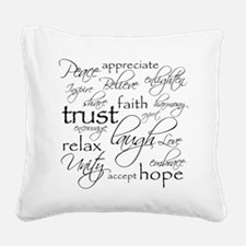 POSITIVE WORDS - Square Canvas Pillow