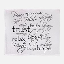 Positive Words - Throw Blanket