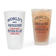 World's Most Awesome Mother-in-Law Drinking Glass