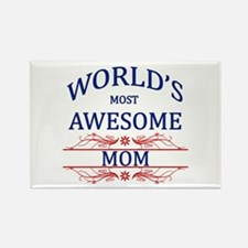 World's Most Awesome Mom Rectangle Magnet