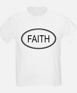 Faith Oval Design Kids T-Shirt
