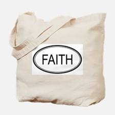 Faith Oval Design Tote Bag