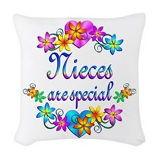 Nieces are Special Woven Throw Pillow