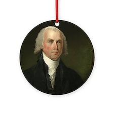 Gilbert Stuart - James Madison Ornament (Round)