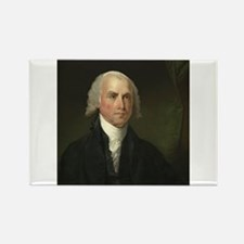 Gilbert Stuart - James Madison Rectangle Magnet