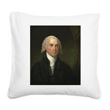 Gilbert Stuart - James Madison Square Canvas Pillo