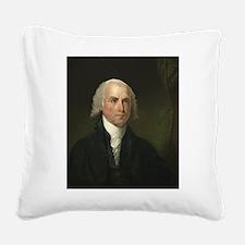 Gilbert Stuart - James Madison Square Canvas Pillo