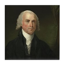 Gilbert Stuart - James Madison Tile Coaster