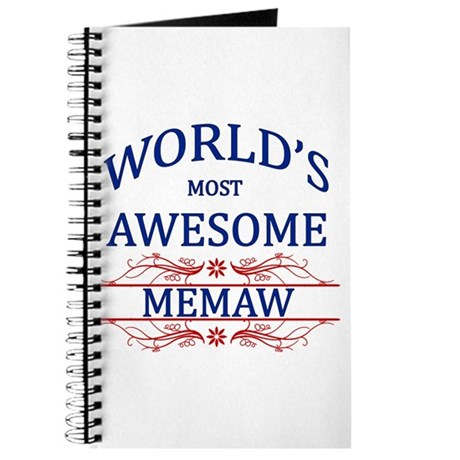 World's Most Awesome Memaw Journal