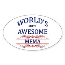 World's Most Awesome Mema Decal