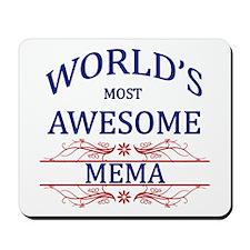 World's Most Awesome Mema Mousepad
