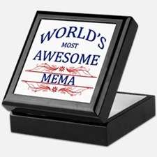 World's Most Awesome Mema Keepsake Box
