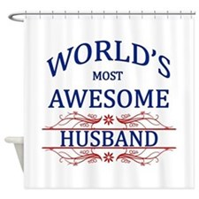 World's Most Awesome Husband Shower Curtain