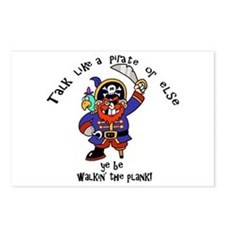 Peg Leg Pirate Postcards (Package of 8)
