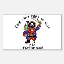 Peg Leg Pirate Decal