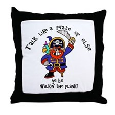 Peg Leg Pirate Throw Pillow