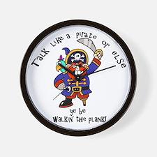 Peg Leg Pirate Wall Clock