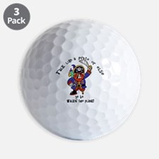 Peg Leg Pirate Golf Ball