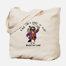 Peg Leg Pirate Tote Bag